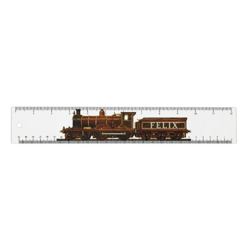 personalized model railroad train ruler