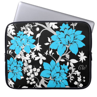 Personalized Modern floral Laptop Sleeve