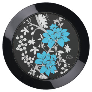Personalized Modern floral USB Charging Station