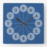 Personalized Modern Fun Name Clock at Zazzle