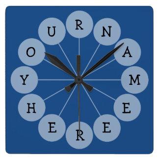 Personalized Modern Fun Name Clock
