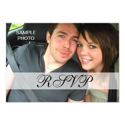 Personalized Modern Photo Wedding RSVP Cards Custom Invites