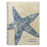 Personalized Modern Starfish Notebook