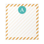 Personalized Modern Striped Notepad