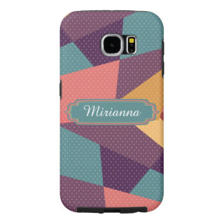 Personalized Modern Tangram and Dots Pattern Samsung Galaxy S6 Case