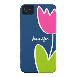 Personalized Modern Tulip iPhone 4/4S Case