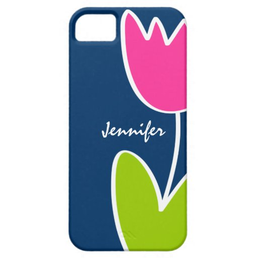 Personalized Modern Tulip iPhone 5/5S Case