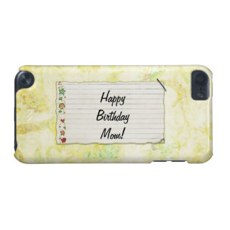 Personalized Mom birthday Flower Label iPod Touch (5th Generation) Cover