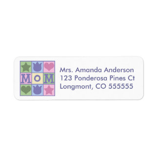 Personalized Mom Quilt Square Address Labels