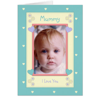 Personalized Mommy Birthday photo Card