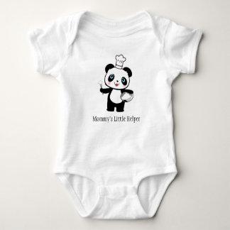 Personalized Mommy's Little Helper Panda Bear Gift Baby Bodysuit
