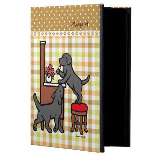 Personalized Mom's Black Lab Puppy Duo iPad Air Cover