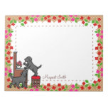 Personalized Mom's Black Lab Puppy Duo Notepads