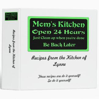 Personalized Mom's Kitchen recipe binder