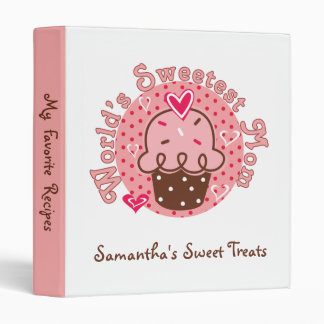 Personalized Mom's Sweet Love Recipe Binder