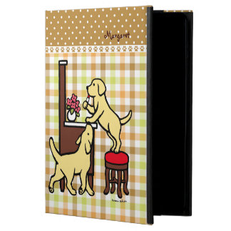 Personalized Mom's Yellow Lab Puppy Duo iPad Air Covers