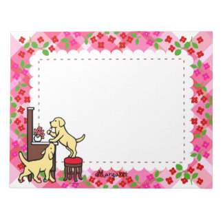 Personalized Mom's Yellow Lab Puppy Duo Note Pad