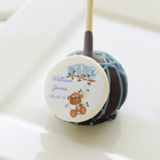 Personalized Monkey Baby Boy Cake Pops Cake Pops