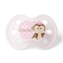 Personalized Monkey Baby Pacifier