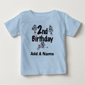 Personalized Monkey Baseball 2nd Birthday Tshirt