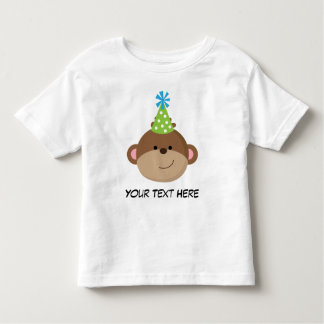 Personalized Monkey Birthday T Shirt For Boys