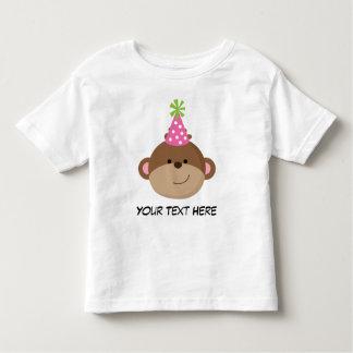 Personalized Monkey Birthday T Shirt For Girls