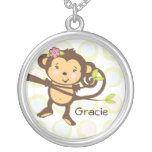 Personalized Monkey Necklace