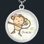 """Personalized Monkey Necklace<br><div class=""""desc"""">Give this cute little monkey necklace to the &quot;little monkey&quot; in your life and personalize it with their name.</div>"""