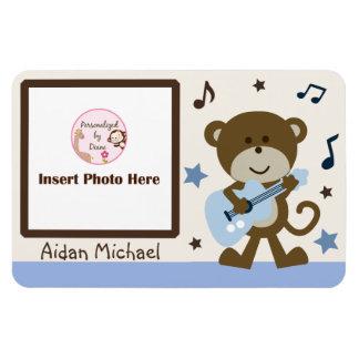 "Personalized ""Monkey Rocker/Rockstar"" Photo Magnet"