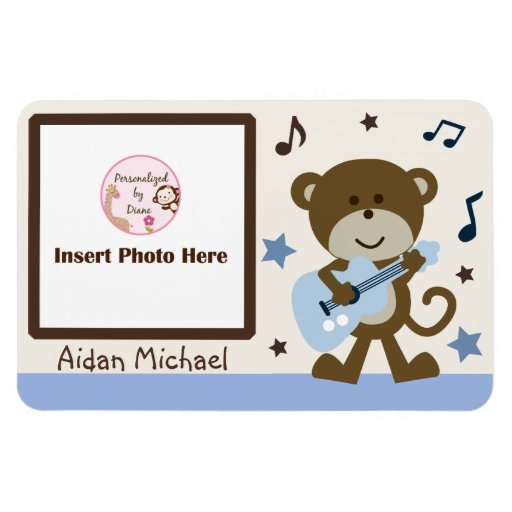 "Personalized ""Monkey Rocker/Rockstar"" Photo Magnet"