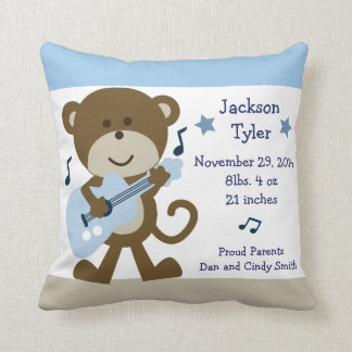 "Personalized ""Monkey Rockstar/Rocker"" Pillow"