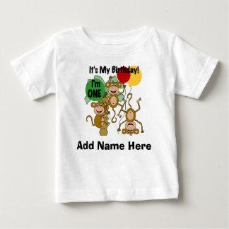 Personalized Monkey Shine 1st Birthday Tshirt