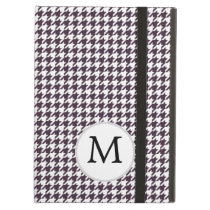 Personalized Monogram Amethyst Houndstooth Patter Case For iPad Air