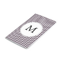 Personalized Monogram Amethyst Houndstooth Patter Journal