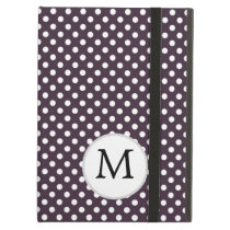 Personalized Monogram Amethyst Polka Dots Pattern iPad Air Cover