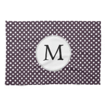 Personalized Monogram Amethyst Polka Dots Pattern Towels
