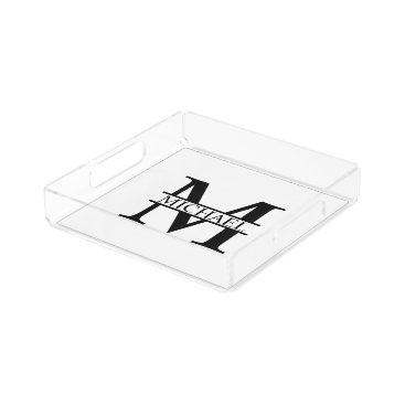 Beach Themed Personalized Monogram and Name Acrylic Tray