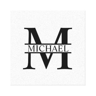 Personalized Monogram and Name Canvas Print