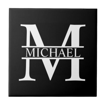 Beach Themed Personalized Monogram and Name Ceramic Tile