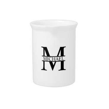 Beach Themed Personalized Monogram and Name Drink Pitcher