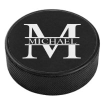 Personalized Monogram and Name Hockey Puck