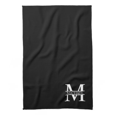 Beach Themed Personalized Monogram and Name Kitchen Towel