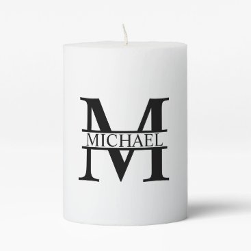 Beach Themed Personalized Monogram and Name Pillar Candle