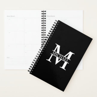 Personalized Monogram and Name Planner