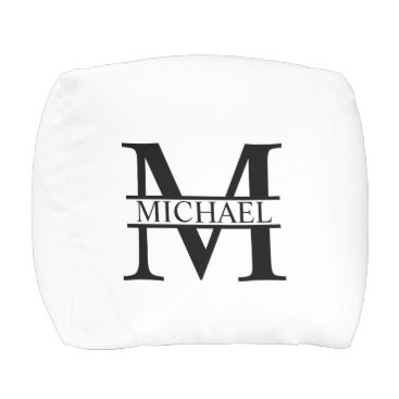 Beach Themed Personalized Monogram and Name Pouf