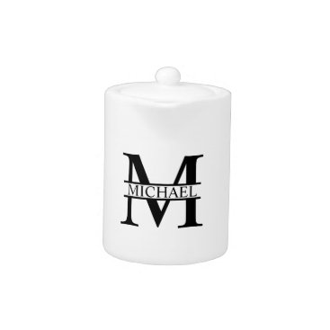 Beach Themed Personalized Monogram and Name Teapot