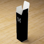 """Personalized Monogram and Name Wine Box<br><div class=""""desc"""">Personalized Monogram and Name Gifts featuring personalized monogram and name in classic serif font style.  Perfect as father's day gifts for dad,  gifts for grandfather,  husband,  groom,  best man,  groomsmen and more.</div>"""