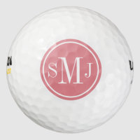 Personalized Monogram and Strawberry Ice Frame Golf Balls