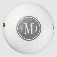 Personalized Monogram and Titanium Frame Golf Balls