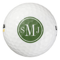 Personalized Monogram and Treetop Frame Golf Balls
